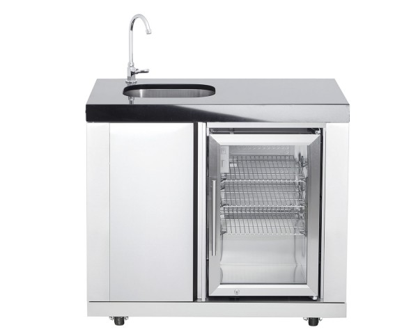 Modul 1 | Waschbecken/Kühlschrankkombi (Becken links)