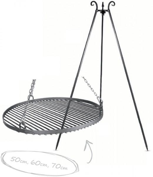 Schwenkgrill: Dreibein Viking + Rohstahlrost
